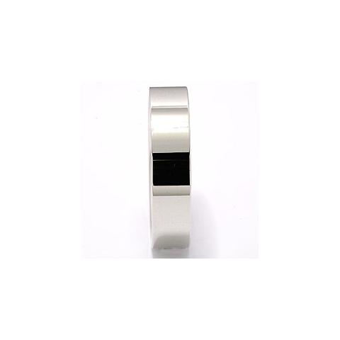 Flad glat vielsesring i 14 karat hvidguld