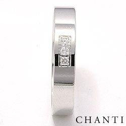 Flot blank brillant vielsesring i 14 karat hvidguld 0,049 ct