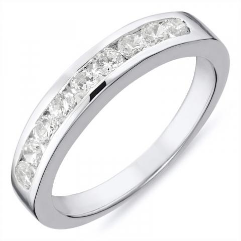 smuk sølv ring i rhodineret sølv