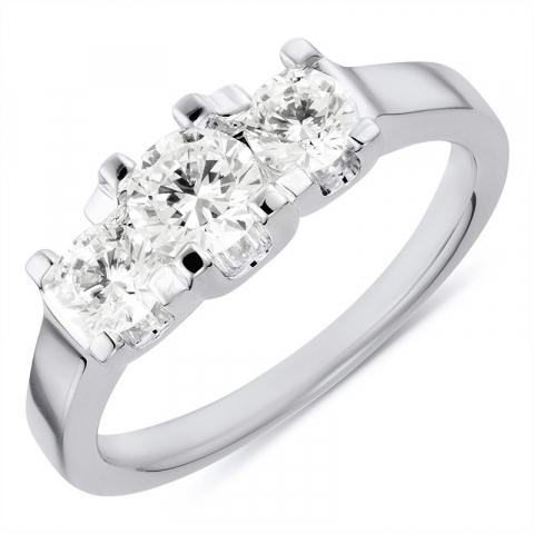 Sød ring i rhodineret sølv