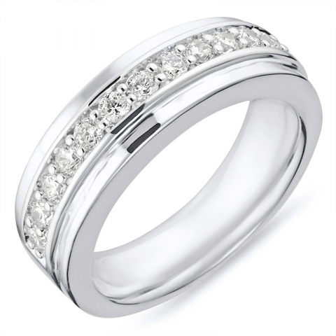 Fin ring i rhodineret sølv