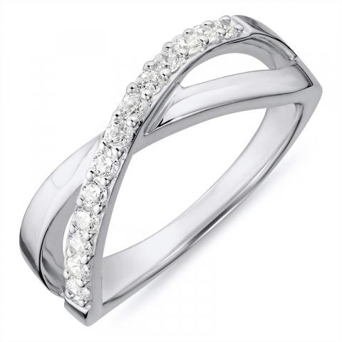Ring i rhodineret sølv