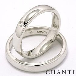 Klassiske ovale diamant vielsesringe i 14 karat hvidguld 1 x 0,05 ct - sæt