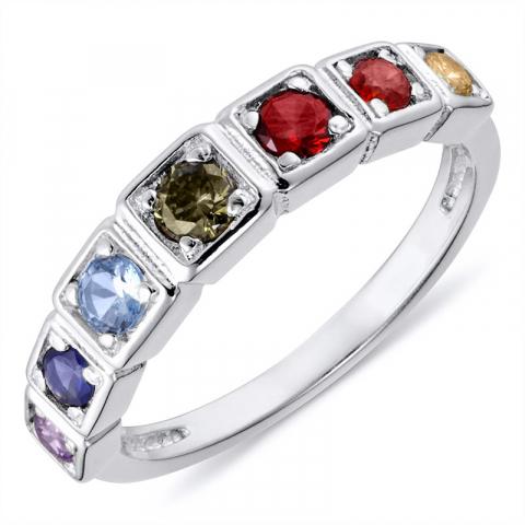 Fingerringe sølv ring i rhodineret sølv