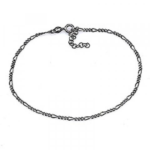 Enkelt sort rhodineret sølv armbånd i sort rhodineret sølv  x 1,9 mm