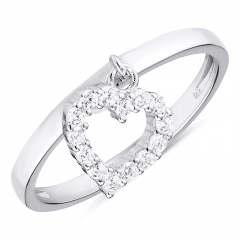 Smuk hjerte ring i sølv