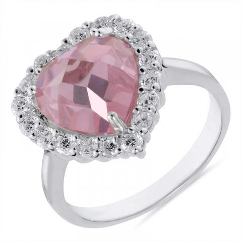 Hjerte ring i sølv