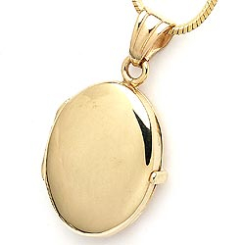 Medaljon i 9 karat guld