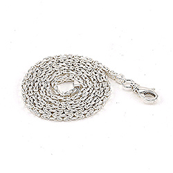 Kort kongehalskæde i sølv 42 cm x 2,4 mm