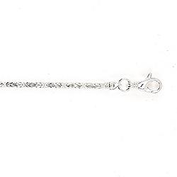 Enkelt kongehalskæde i sølv 45 cm x 2,4 mm