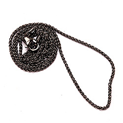 BNH hvedehalskæde i sort rhodineret sølv 38 cm x 1,3 mm