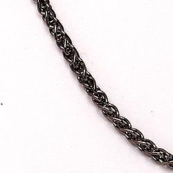 BNH hvedehalskæde i sort rhodineret sølv 80 cm x 1,3 mm
