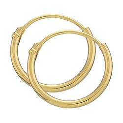13 mm BNH creoler i 14 karat guld