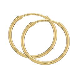 17,5 mm BNH creoler i 14 karat guld
