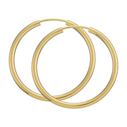 30 mm BNH Creoler øreringe i 14 karat guld
