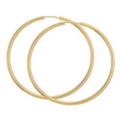 50 mm BNH creoler i 14 karat guld