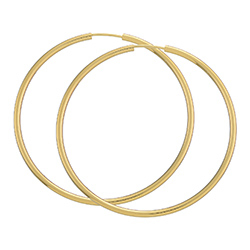50 mm BNH creoler i 8 karat guld