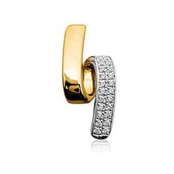 Smukt diamant vedhæng i 14 karat guld 0,11 ct