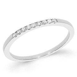 Smal diamant hvidguldsring i 14 karat hvidguld 0,09 ct