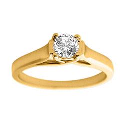 Ægte diamant guldring i 14 karat guld 0,10 ct