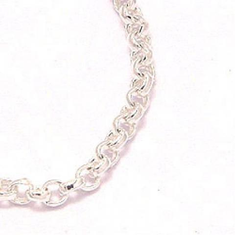 Ærtehalskæde i sølv 38 cm x 1,2 mm
