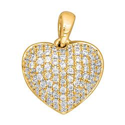 Trendy hjerte diamantvedhæng i 14 karat guld 0,30 ct