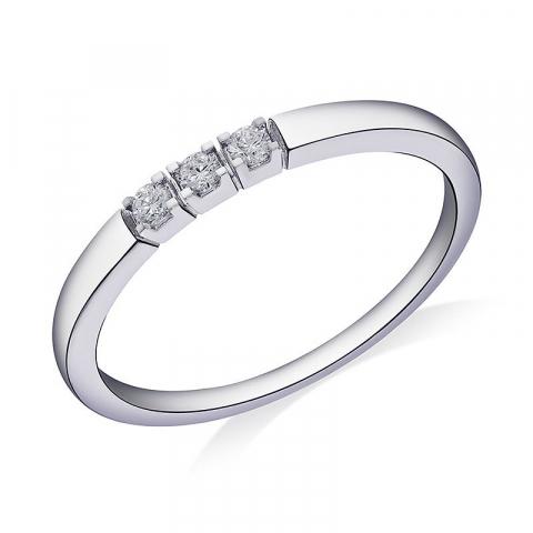 Diamant kollektionsprøve i 14 karat hvidguld
