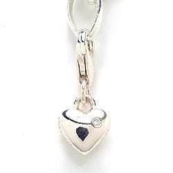 Sødt zirkon charm i sølv