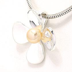 Blomstervedhæng i sølv