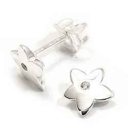 Stjerne ørestikker i sølv