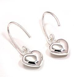 Hjerteøreringe i sølv