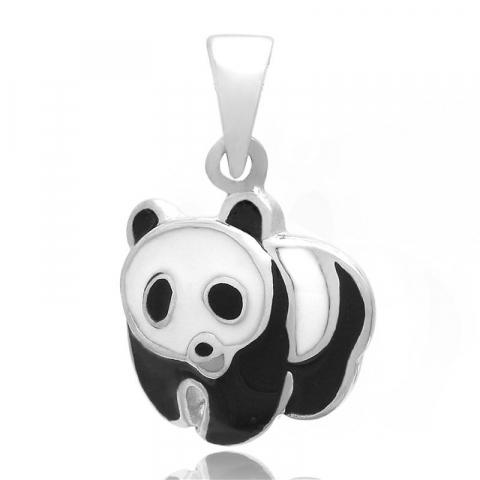 Flot panda vedhæng i sølv