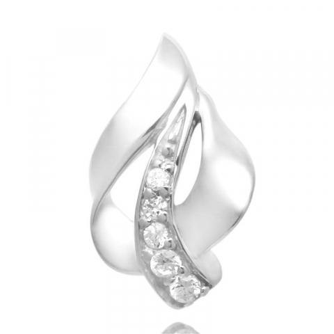 Pænt abstrakt zirkon vedhæng i sølv
