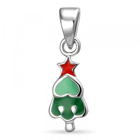 Juletræ vedhæng i sølv