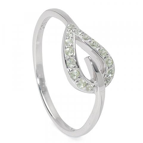 Sød blad ring i sølv