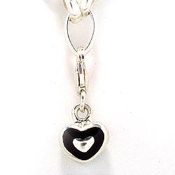 Hjerte charm i sølv