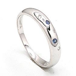 Fin safir ring i sølv