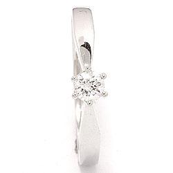 Pæn diamant hvidguldsring i 14 karat hvidguld 0,20 ct
