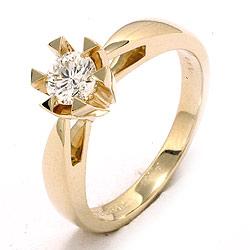 Sød diamant guld ring i 14 karat guld 0,40 ct