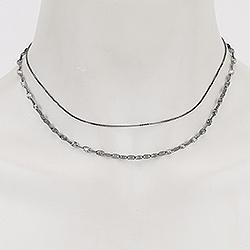 RebekkaRebekka halskæde i sort rhodineret sølv